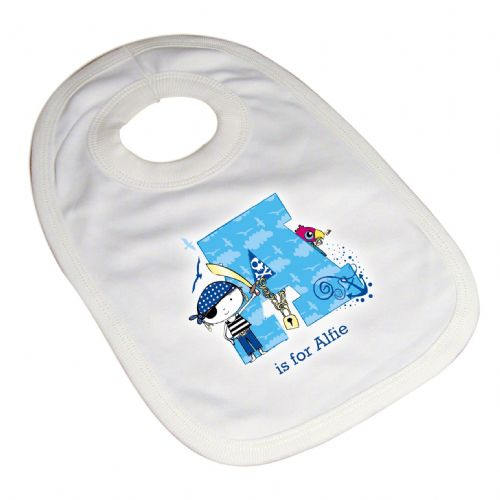 Personalised Pirate Letter Baby Bib